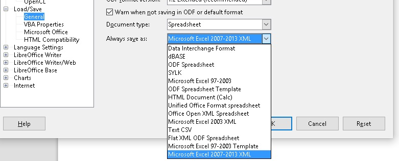 how to change xls to xlsx without opening