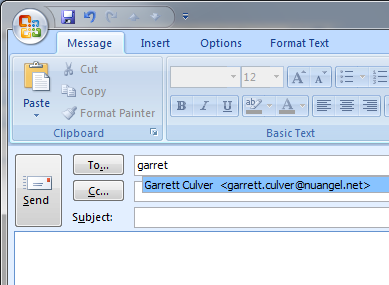 One or more parameter values are not valid (Outlook error